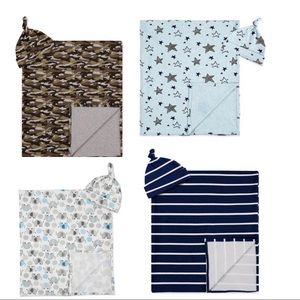 Brand new baby boy swaddle sets